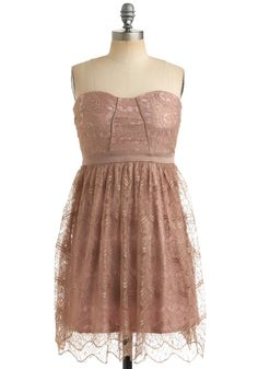This looks like the dusty rose color swatch you sent. Pretty in Mink Dress | Mod Retro Vintage Printed Dresses | ModCloth.com