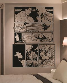 Giant Batman vs Superman Comic Strip Wall Art by HallofHeroes