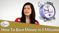 HOW TO SAVE MONEY IN 5 MINUTES A MONTH | Financially Fabulous with Limor Saving Money, Videos, Save My Money, Video Clip