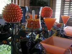 Red Couch Recipes: Candy Corn Tablescape