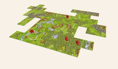 Carcassonne - Fan Expansions: new landscapes -Fishermen, Forests & Mountains