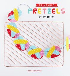 Printable Pretzels Cut Out | DESIGN IS YAY!