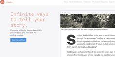 Atavist. Editeur de texte en ligne et plateforme dédiée à l