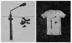 10.7.2012 | T-shirt design for 2600 Strange Ave by rullypulul #silhouette #stark #urban