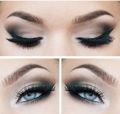 prom makeup for blue eyes and blue dress - Google Search