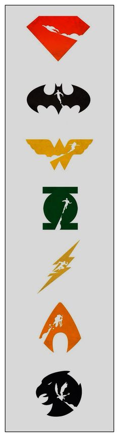 Justice League, emblems.