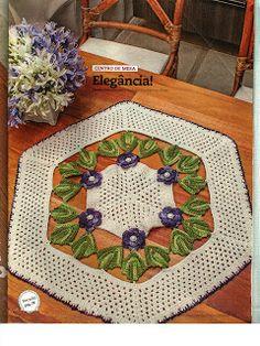 Mania-de-Tricotar: Centro de mesa em crochê com Duna!  http://mania-de-tricotar.blogspot.com.br/