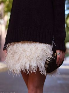 im obsessed with feather skirts!