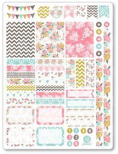 Shabby Chic decoración Kit / extensión semanal por PlannerPenny