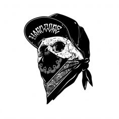 Find Vector Skull Artwork stock images in HD and millions of other royalty-free stock photos, illustrations and vectors in the Shutterstock collection. Gangster Tattoos, Gangster Drawings, Head Tattoos, Skull Tattoos, Evil Tattoos, Tattoo Sketches, Tattoo Drawings, Totenkopf Tattoos, Tattoo Lettering Fonts