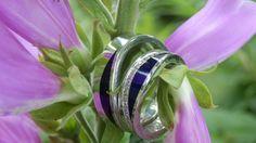 Super mooi en apart! Witgouden ringen , keramiek, diamanten