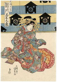 歌川国貞: Actor Segawa Kikunojô as Ôiso no Tora - ボストン美術館