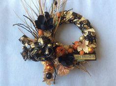 halloween wreath elegant black and gold halloween wreath