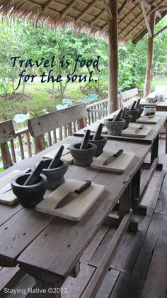 Travel is food for the soul at Chiang Mai Farm cooking school. #ChiangMai #Thailand #travel    Travel quote
