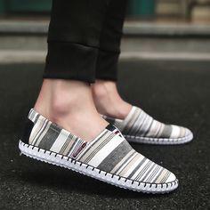 Men Breathable Canvas Shoes Espadrilles Loafers Espadrille Shoes, Espadrilles, Casual Sneakers, Adidas Sneakers, Men Fashion, Men's Shoes, Loafers, Man Shop, Canvas
