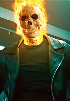 Ghost Rider (Nicholas Cage 2007 movie)'s burning skull
