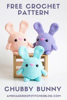 Easter Bunny Crochet Pattern, Crochet Teddy, Crochet Cross, Crochet Patterns Amigurumi, Kawaii Crochet, Crochet Gratis, Cute Crochet, Plush Pattern, Free Pattern