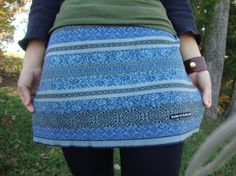 Sweater Mini Skirt/ Upcycled Nordic Sweater in by RebirthRecycling, $35.00