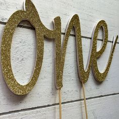 One cake topper First birthday cake topper. One by InspiredbyAlma