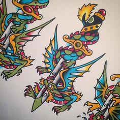 Experimenting. ⚗ (at Speakeasy Tattoo)