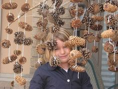 Pine cone mobile - great idea for displaying all those cones they bring into class every morning!