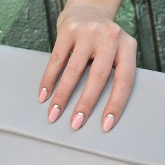 Make your nails stand out with an almond shape manicure.