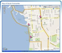 South Fremantle Boundary Map - Map of South Fremantle, Western Australia Perth Australia, Western Australia, Trafford, South Beach, Maps, Blue Prints, Map, Cards