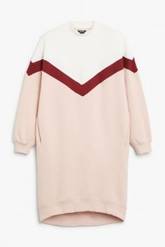 Monki Oversize sweater dress in Orange Reddish Light