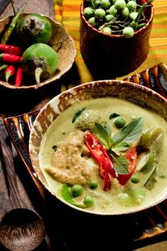 Thai Green Curry with TVP - vegetarian