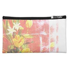 floral pattern cosmetic bag - floral style flower flowers stylish diy personalize