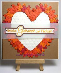 Sahnekrümel's Hobbywelt: Herbstliche Hochzeitskarte