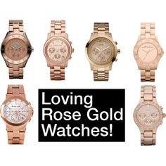 rose gold watches!