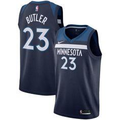 f9fb03fd24bd2 Nike Timberwolves #23 Jimmy Butler Navy Blue NBA Swingman Icon Edition  Jersey