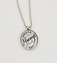 Always Hand-Lettered Pendant Necklace by How Joyful