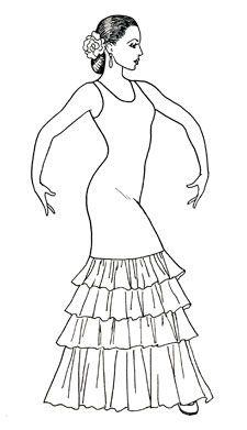 El tipo de vestido de las mujeres usan al bailar el flamenco