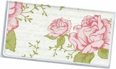 Checkbook Cover  Vintage Rose Floral check by rabbitholeonline, $6.25