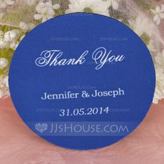 """Personalized Favors - $6.59 - Personalized """"Thank You"""" High Quality EVA Wedding Coasters (Set of 4) (118029965) http://jjshouse.com/Personalized-Thank-You-High-Quality-Eva-Wedding-Coasters-Set-Of-4-118029965-g29965"""
