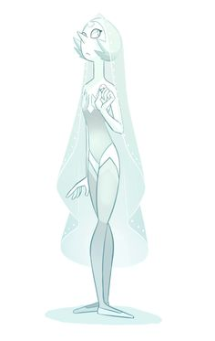 Steven Universe Appreciation<< I think the pearl we know actually used to be white diamond's pearl, you know, considering her pearl is white and so is her skin.