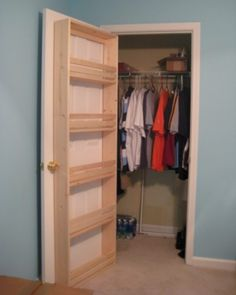 storage on the back of a closet door