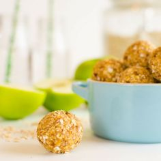 healthy apple oat no bake bites, these energy balls make a healthy breakfast or healthy snack for kids