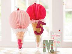 Giant Paper Pom Ice Cream Cones | Pottery Barn Kids