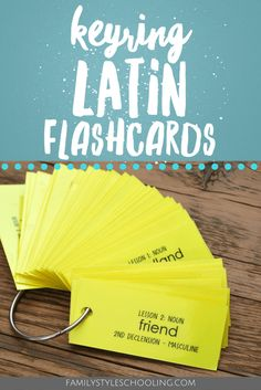 If you're looking for a little help with memorizing your Latin vocabulary, try these printable keyring flashcards to study on the go!