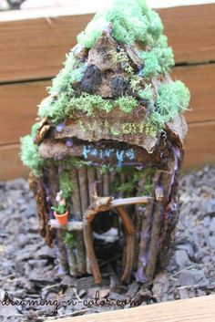 Create a Fairy Garden (maybe in the wood and glass tray I found)