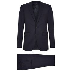 Burberry London Stirling Slim Wool Suit (118.110 RUB) ❤ liked on Polyvore featuring men's fashion, men's clothing and men's suits
