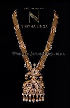 Antique Peacock Long Chain by Nikitha Linga