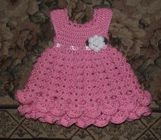 Hey, I found this really awesome Etsy listing at https://www.etsy.com/listing/223426682/pink-crochet-newborn-baby-dress-crochet