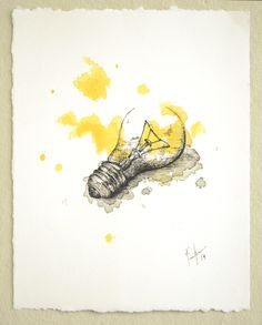 Ordinary Beauty - My personal work on Behance   Light bulb: Watercolour, Ink, Fineliner.
