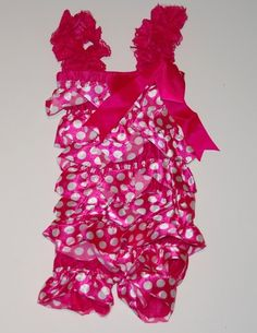 Hot Pink w/ White Polka Dots Satin Pettiromper can you believe the price? only $7.99  http://www.gabskia.com/store.php#!/~/product/category=4388833=21932052