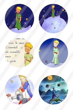 The Little Prince digital collage Little Prince Party, The Little Prince, Disney Illustration, Boys Life, Bottle Cap Images, Printable Stickers, Digital Collage, Collage Sheet, Decoupage