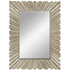 Aged Silver Bravado Mirror from Paragon (8769), $589.00